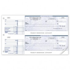 Standard Two-to-a-Page Cheque (Double Copy) - W437-2
