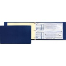 Manual Cheque Binder - 2 part cheque - Blue - W44372