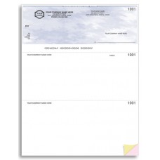 Standard Top Cheques - Laser/Inkjet (Single Copy) - W9085 / 9085 / W9085-1
