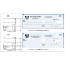 High Security Two-To-A-Page Cheques (Double Copy) - WHS437-2