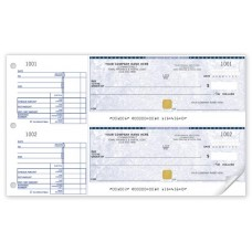 Basic Security Two-to-a-Page Cheque (Double Copy) - WSS437-2 / SS437-2
