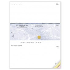 Security Business Cheques - Middle Cheque - Laser/Inkjet (Double Copy) - WSS9039-2