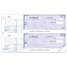 Standard Two-to-a-Page Cheque (Double Copy) - W440-2