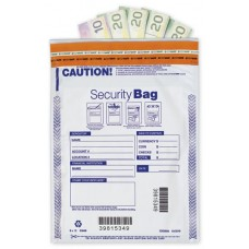 "9 x 12"" Single Pocket Deposit Bag, Opaque - W414"
