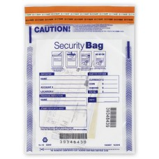 "9 x 12"" Single Pocket Deposit Bag, Clear - W53849"