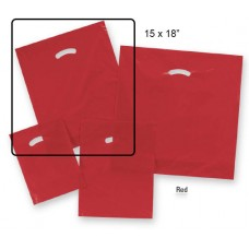 "Die-Cut Handle Plastic Bags  - 15"" x 18"" + 4"" BG  (500 Bags)"
