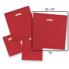 "Die-Cut Handle Plastic Bags  - 20"" x 20"" + 5"" BG  (500 Bags)"