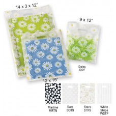 "Frosted Patterned Merchandise Bags - 14"" x 3"" x 21"" (500 Bags)"