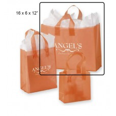 "Frosted Color, High Density Shoppers - 16"" x 6"" x 12"" (250 Bags)"