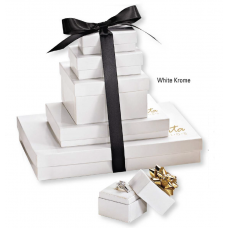 Jewellery Boxes - White Krome