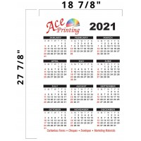 2021 Full Year Wall Calendar