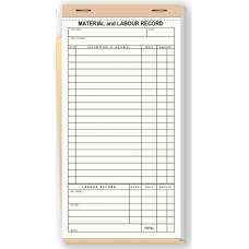 Contractor Materials & Labour Record Books - W230 / 230