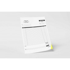 "Custom NCR Carbonless Forms - Large (2 Copy) - Booked - CCB 8.5"" x 11"""